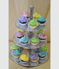Muffins colorful . Possible, chocolate, cream, caramel, and other toppings. Minimum quantity 6 PCs.