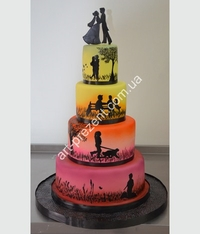 cake custom Wedding cake (wedding cake)