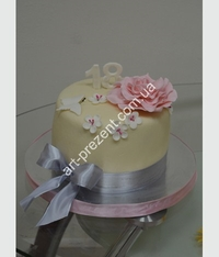 A cake for a girl or woman with a beautiful edible roses and flowers. You can order a cake in the Art Studio Gift to any of Your taste.The price of the cake is for 1 kg minimum weight of 1 storey cake - from 3kg, 2 storey cake - from 5 kg, from floor - 8kg .The cake composition can be selected in the Structure section of the cake. To order a cake you need for a few days, agreeing all the questions in advance. We are always ready to assist You with your choice of sweet miracle taking into account all Your wishes.