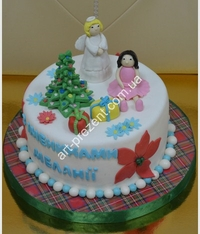 photo of new year and Christmas cakes